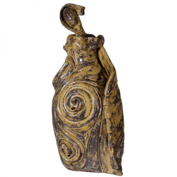 donna scultura abbondanza, ceramic sculpture woman