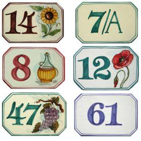 numeri civici personalizzati in ceramica, house numbers in ceramic