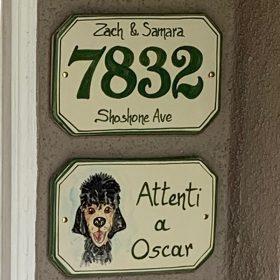 attenti al cane, beware of the dog