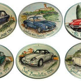 collezione targhe in ceramica, ceramic plaques collection