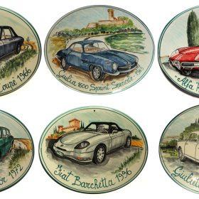 collezione targhe in ceramica, ceramic plaques collection