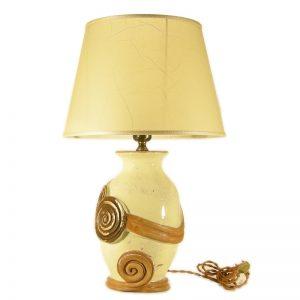 lampada bottega artigiana, handcrafted pottery lamp