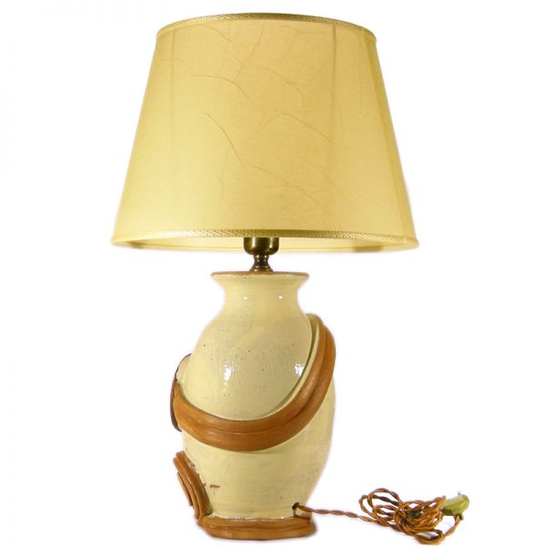 lampada ceramica toscana, tuscany pottery table lamp