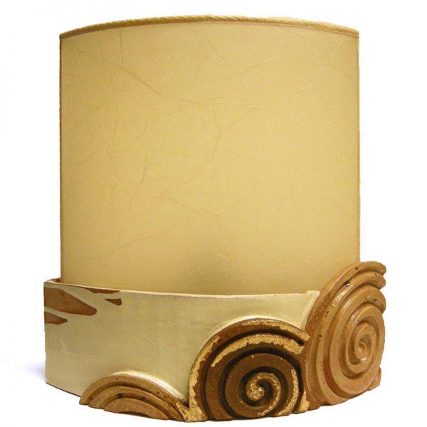 lampada ceramica scultura moderna, modern sculpture table lamp in ceramic