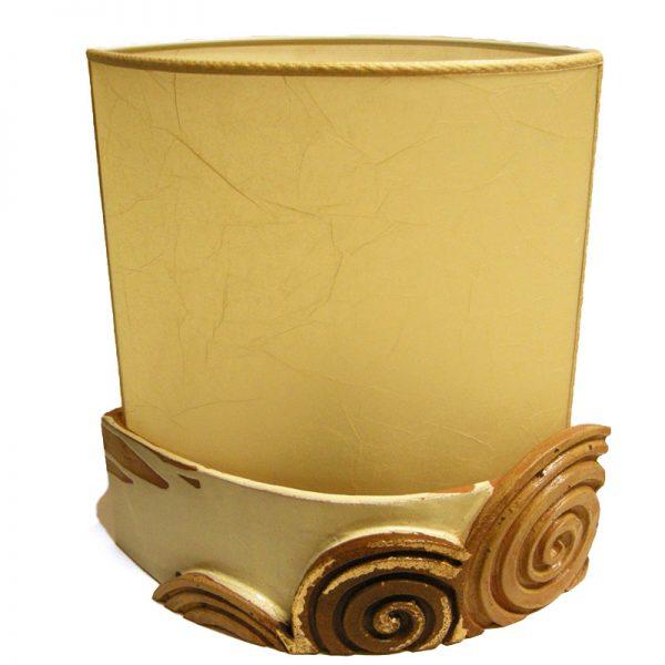 lume scultura terracotta, pottery sculpture lamp