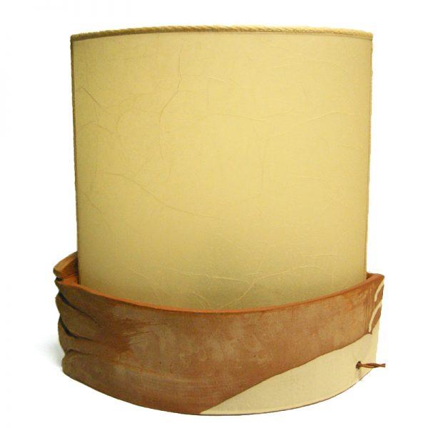 lampada ceramica ovale, oval pottery lamp