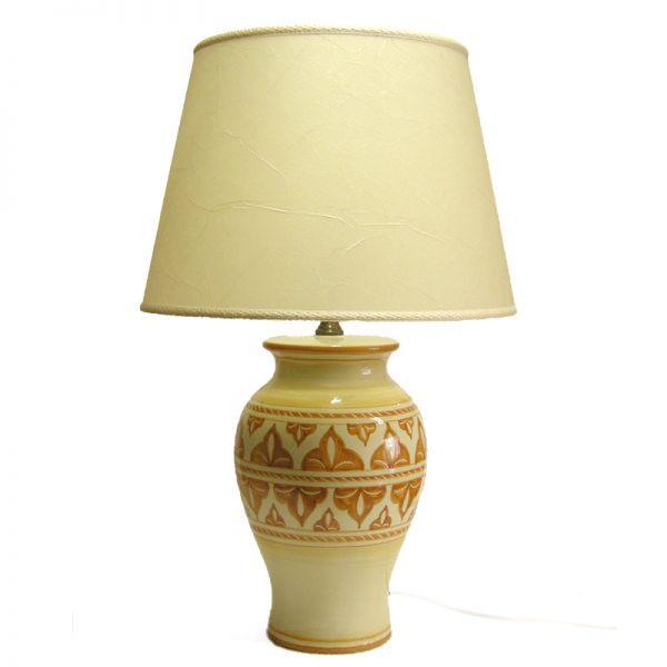 lampada ceramica dipinta a mano, handpainted table lamp in ceramic