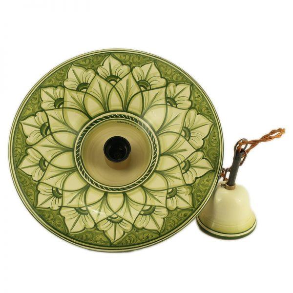 lampadario ceramica fatto a mano in italia, ceramic pendant lamp handmade in italy