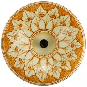 lampadario ceramica dipinto a mano, handpainted lamp in ceramic