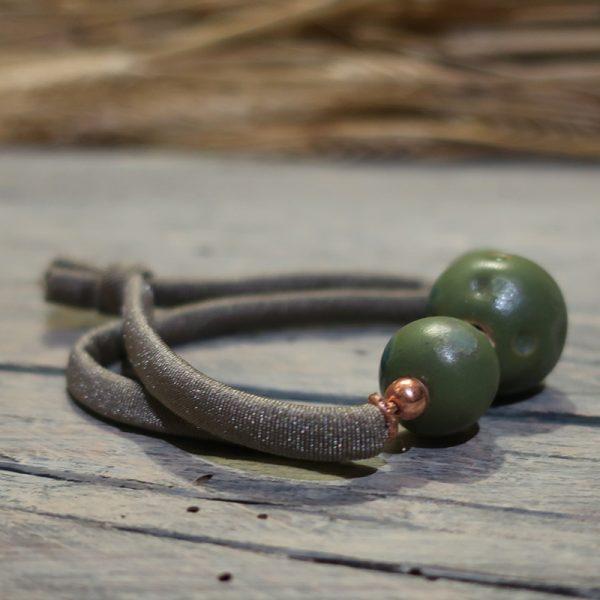bracciale ceramica e lycra made in italy bracelet in ceramic with elastic strap