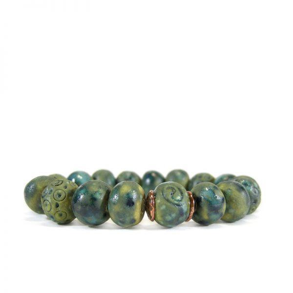 bracciale ceramiche artistiche, artistic ceramic bracelet