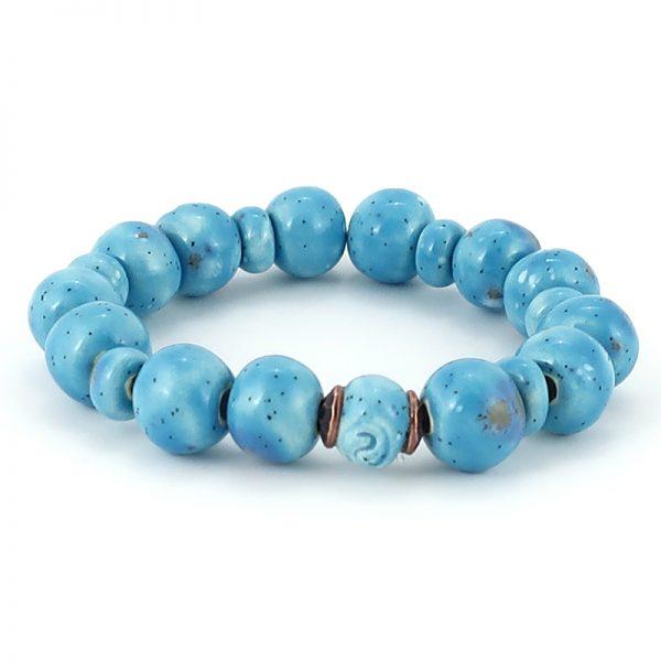 bracciale gioiello ceramica, bracelet pottery jewels
