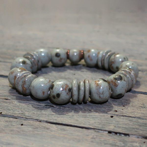 bracciale in ceramica artigianato artistico, artistic bracelet handmade in ceramic