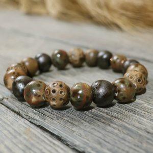 bracciale marrone in ceramica fatto a mano in toscana bijoux ceramica, brown ceramic bracelet bijoux handmade in tuscany