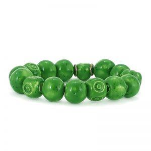 braccialetto verde di ceramica, green bracelet in ceramic