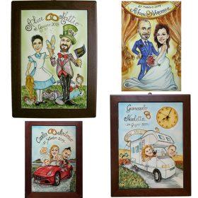 caricatura per matrimonio, caricature for marriage