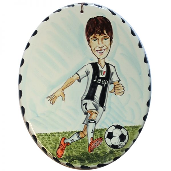 caricatura personalizzata regalo compleanno bambino calcio, custom caricature gift birthday soccer player