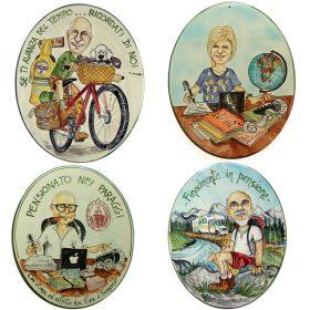 caricatura regalo per pensionamento, caricature for gift