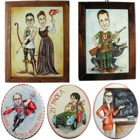 caricature per regalo speciale, caricatures for special gift