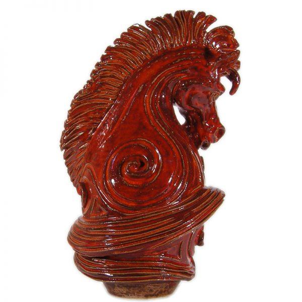 cavallo con spirali, horse with spirals