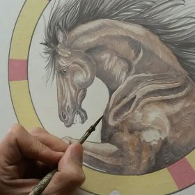 cavallo dipinto, handpainted horse