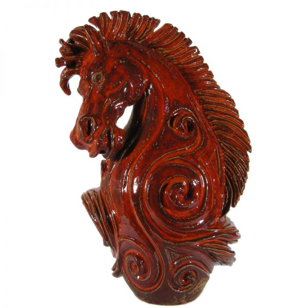 cavallo scultura in ceramica, horse sculpture in ceramic
