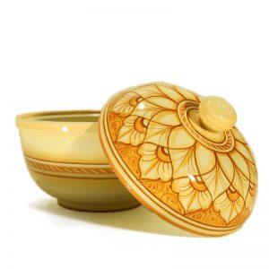 centrotavola biscottiera in ceramica artigianato toscana , handpainted cookie jar in ceramic handcrafted in tuscany