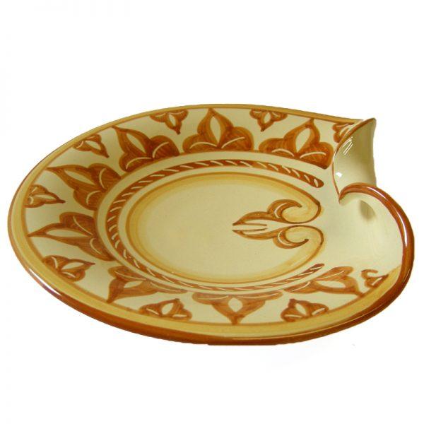 centrotavola ceramica, pottery tray