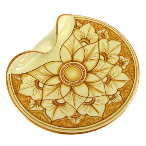 centrotavola ceramica dipinto a mano, handpainted centerpiece in ceramic