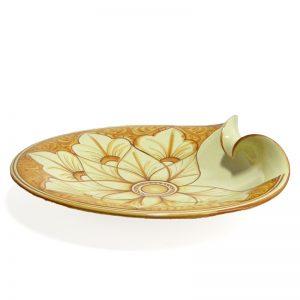 centrotavola ceramica toscana, tuscany ceramic centrepiece