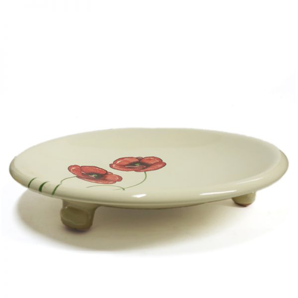 centrotavola con papaveri rossi fatto a mano in toscana, red poppies centerpiece handmade in tuscany