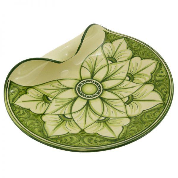 centrotavola dipinto a mano ceramica, hanpainted centerpiece in ceramic