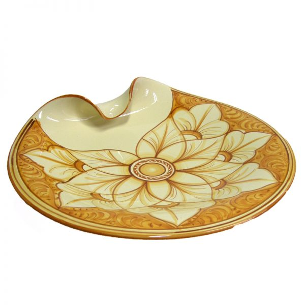 centrotavola in ceramica dipinto a mano, handpainted centerpiece in ceramic