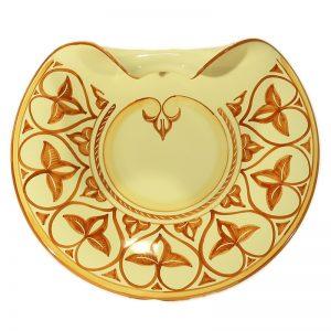centrotavola piatto in ceramica Toscana, centerpiece in ceramica made in Tuscany plate