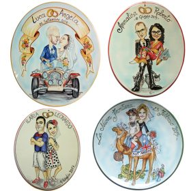 ceramica personalizzata per matrimonio, custom ceramic for marriage