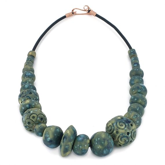 Necklace in ceramic, one of a kind