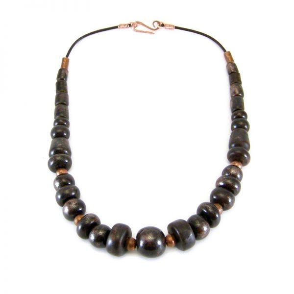 collana artigianato ceramica, handcrafted ceramic necklace