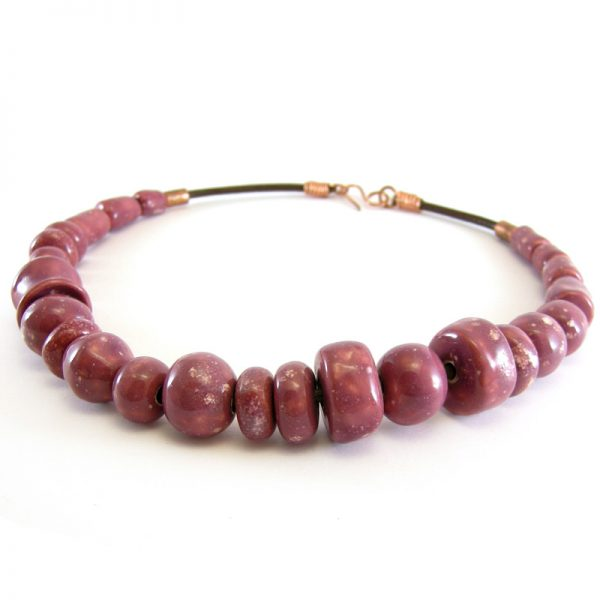 collana bordeaux made in italy burgundy necklace