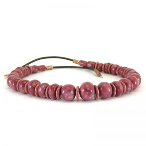 collana bordeaux rosso nobile, burgundy necklace red wine color