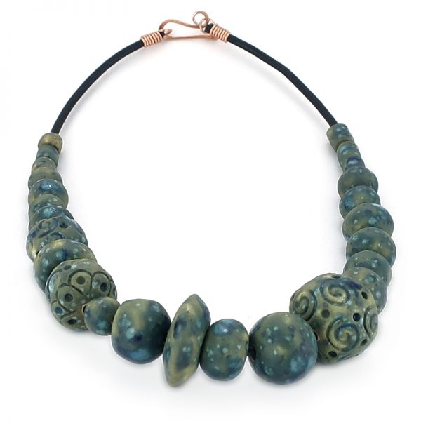 collana gioielli ceramica, ceramic jewels necklace
