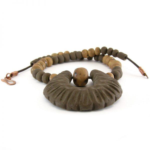collana gioielli in ceramica, necklace pottery jewelry