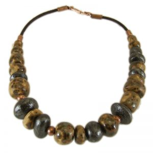 collana in ceramica stile etrusco, pottery necklace etruscan style