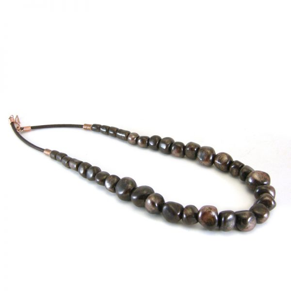 collana marrone handmade in tuscany brown necklace