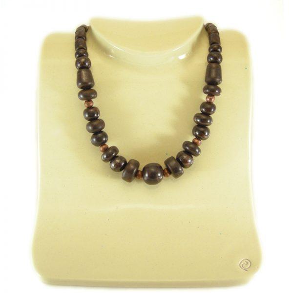 collana rame e ceramica, necklace copper and ceramic