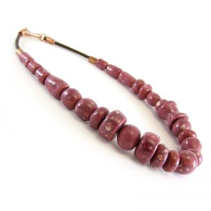 collana rosso nobile, red wine necklace
