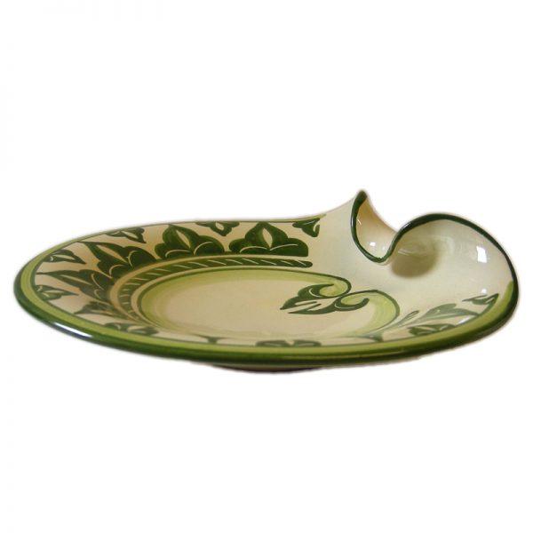 piatto in ceramica dipinto a mano, handpainted plate in ceramic