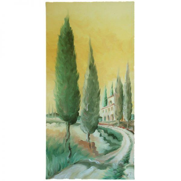 dipinto a olio paesaggio toscana fabrizio rocchi, Tuscany oil painting by fabrizio rocchi