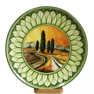 dipinto toscana, tuscany painting in pottery