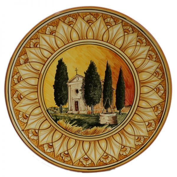 dipinto toscana vitaleta, handpainted plate vitaleta tuscany