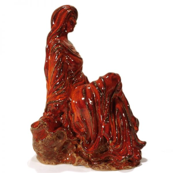 donna scultura artigianato toscana, woman sculpture tuscany handicraft